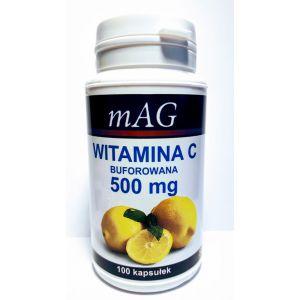 Witamina C mAG, BUFOROWANA 500 mg/100 kapsułek